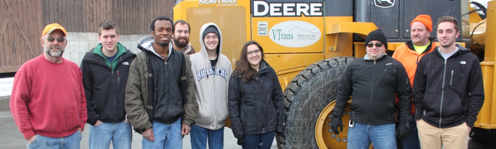 Lyndon student forecasters visit with VTrans employees