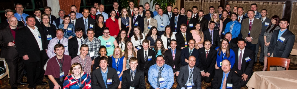 Alumni, faculty and students at the 2016 Northeastern Storm Conference