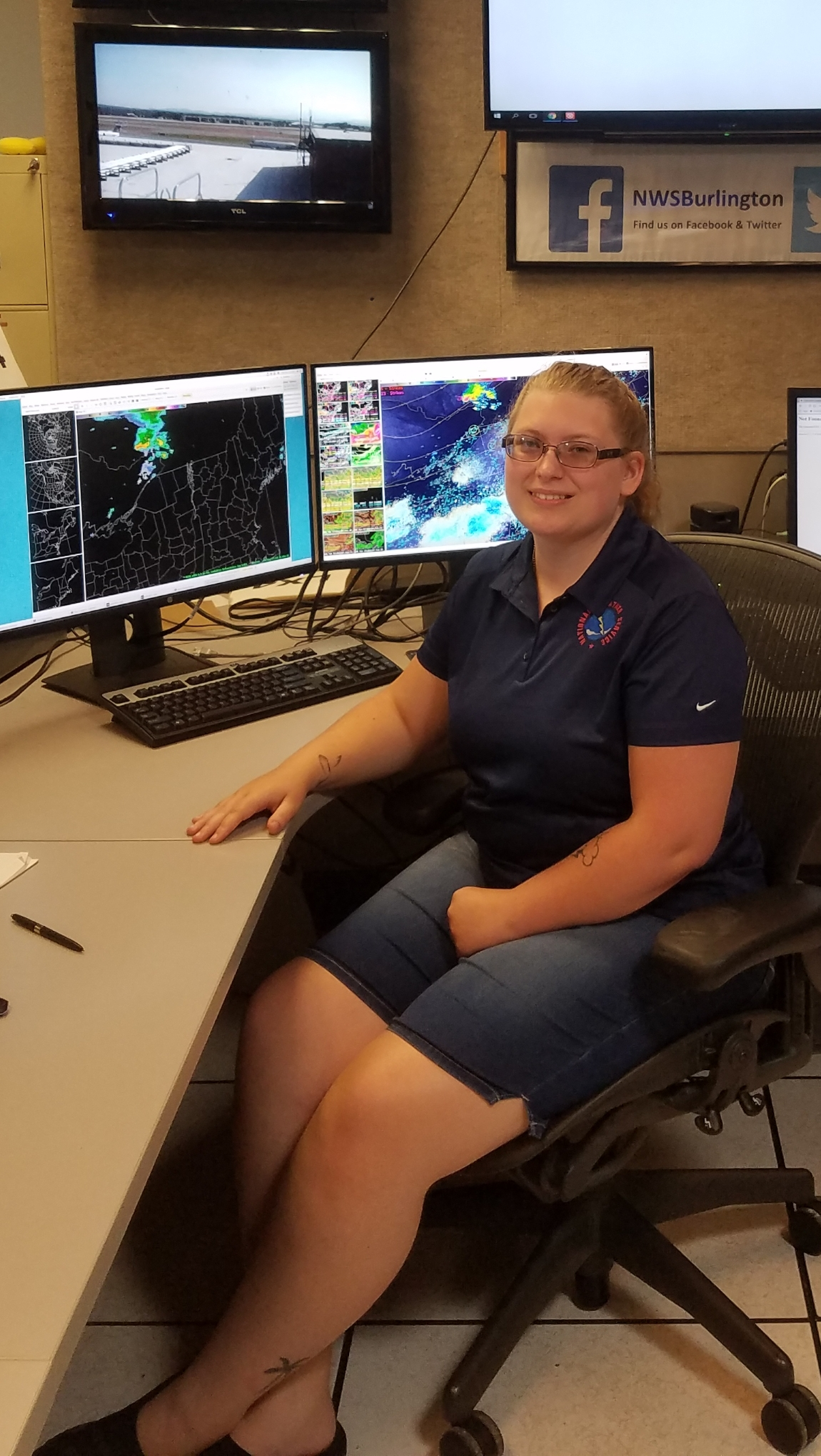 Sarah Sickles worked as an intern at the National Weather Service in Burlington, VT