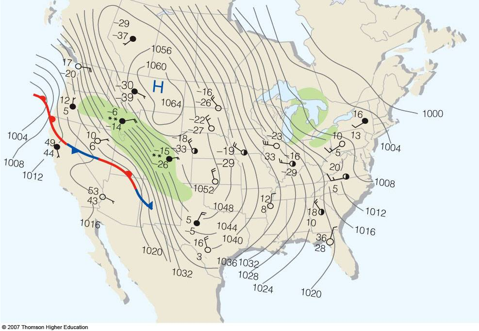 Airmasses affecting North America – Air Masses Worksheet