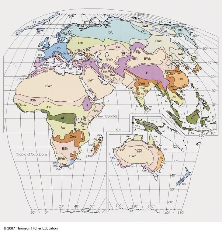 Global Climate - Moist Subtropical Mid-latitude Climates