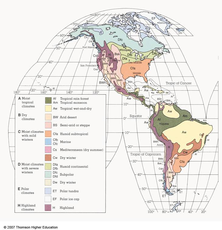 Global Climate - Moist Continental